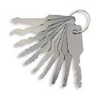 Set di 10 grimaldelli jiggler per serrature di auto