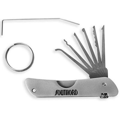 SouthOrd Set de ganzúas en cuchillo de bolsillo