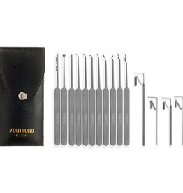 SouthOrd Slim Line 15 Pieces Lock Picking Set