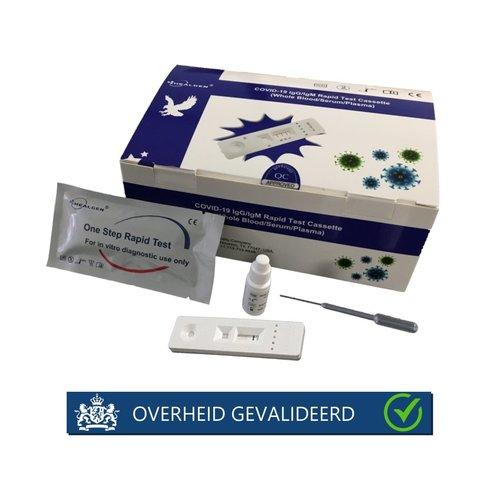 Sneltest Antistoffen  COVID-19 doos à 25 stuks (IgG/IgM)