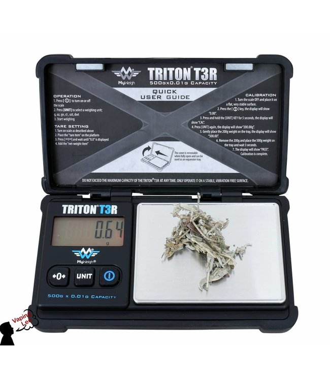 Solide  Digitalwaage vom Myweigh :Triton T3R 500