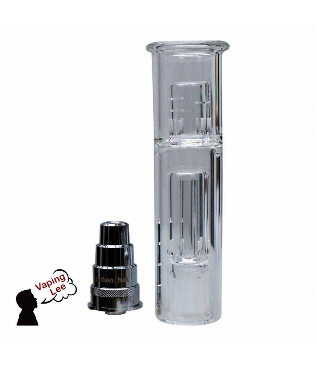 Wasserfilter/Bubbler zum Kühlen und Filtern des Dampfes mit passendem Adapter für Boundless CFX/CF Vaporizer (14er Schliff)