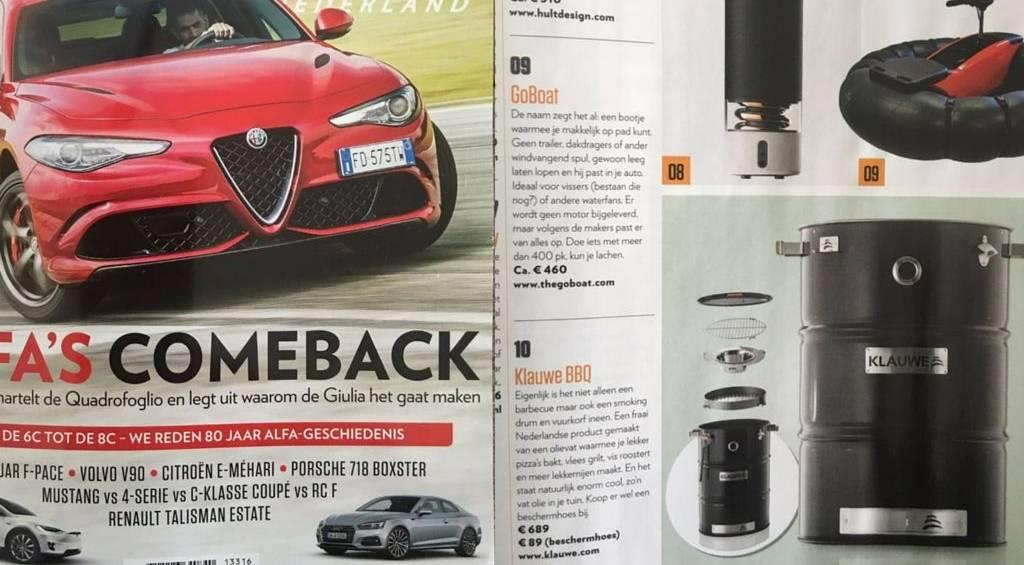 KLAUWE in TopGear Magazine Juli 2016