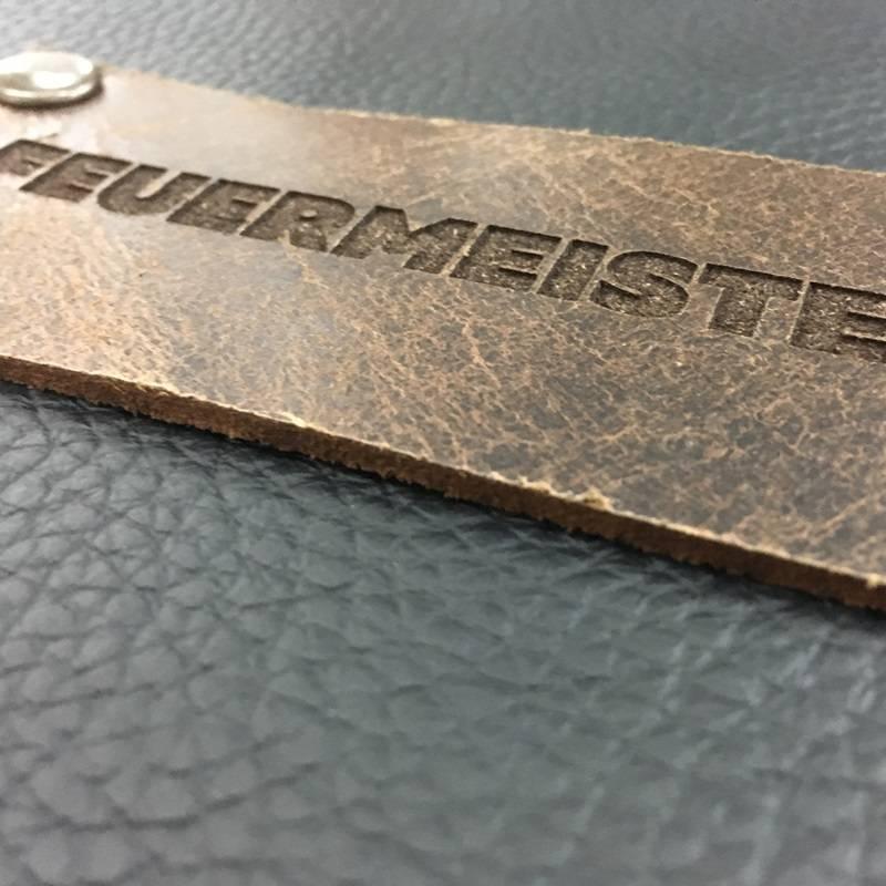 Feuermeister® Premium Leren Schort Zwart