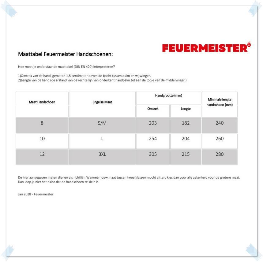 Feuermeister® Premium Leren Barbecue Handschoenen