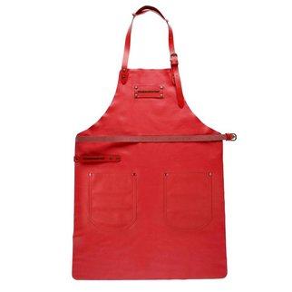 Feuermeister® Premium Leder Schürze Rot
