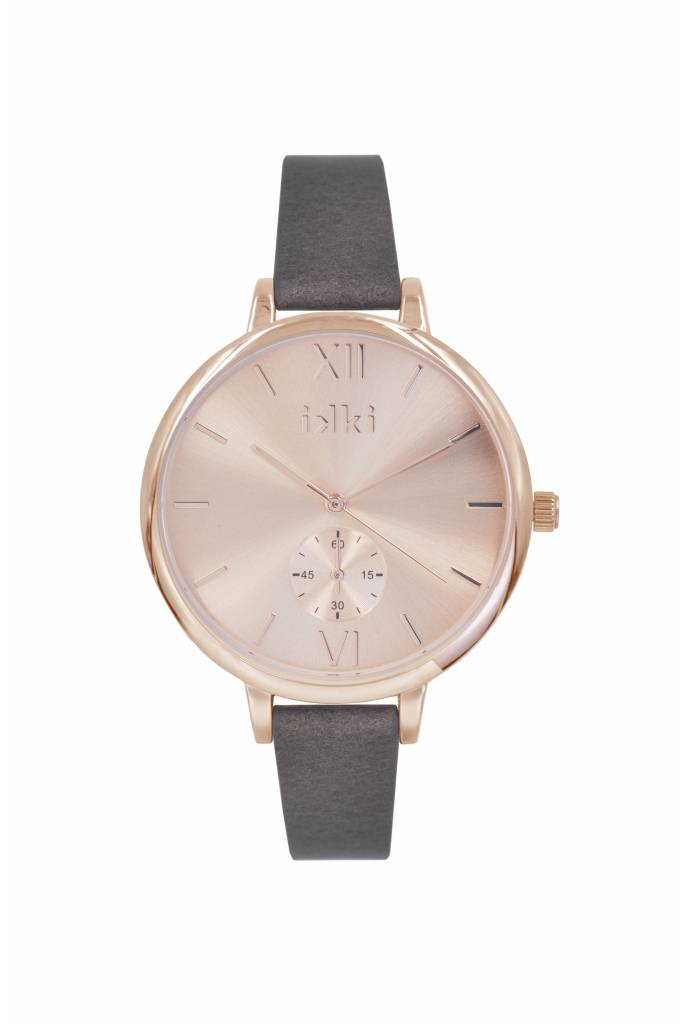 IKKI Estelle brown/rose gold horloge ET10
