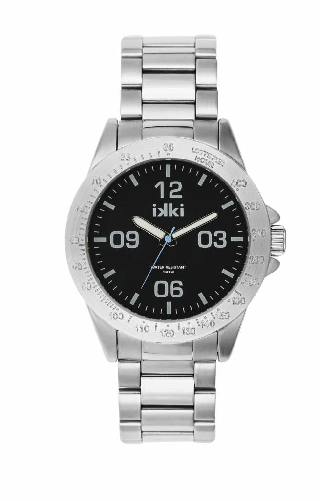 IKKI Marshall silver / black horloge MA-04 heren