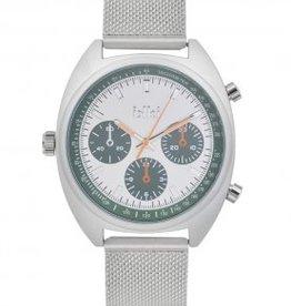 Uitverkoop IKKI Maxwell silver/green horloge MX06