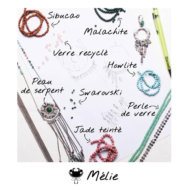 Franck Herval oorbellen collectie Melie