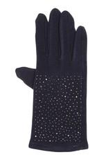 Tantrend Blauwe handschoenen met hematiet kristallen