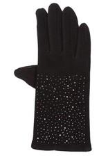 Tantrend Zwarte handschoenen met hematiet kristallen