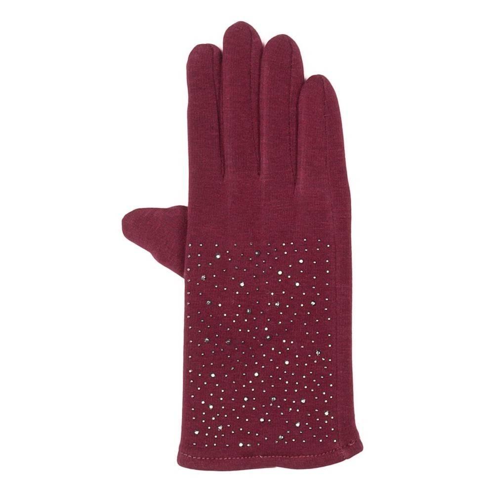 Tantrend Bordeaux handschoenen met hematiet kristallen