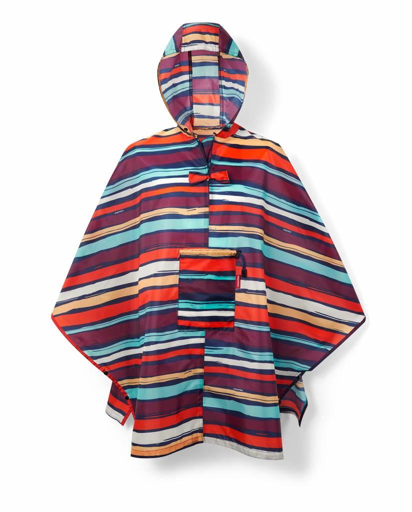 Mini maxi poncho artist stripes