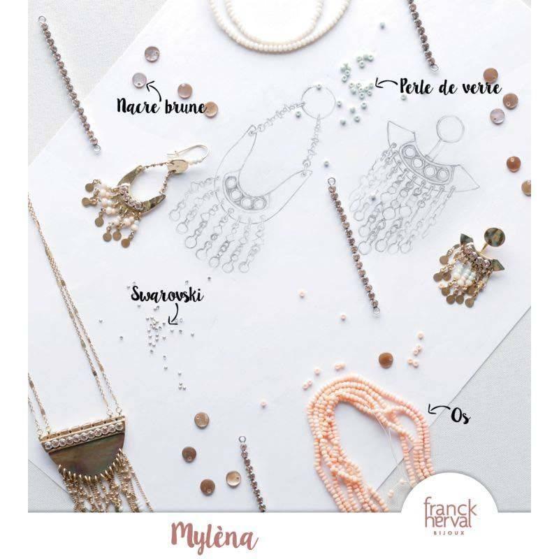 Franck Herval oorbellen collectie Mylena