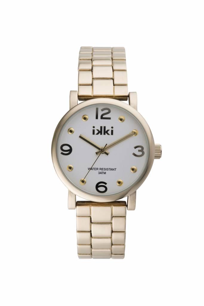 IKKI Brooklyn gold/silver horloge BK09
