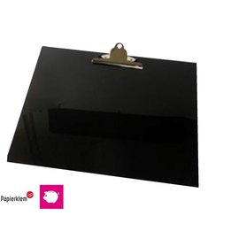 Papierklem Klembord A3 dwars met kopklem zwart Papierklem 60105