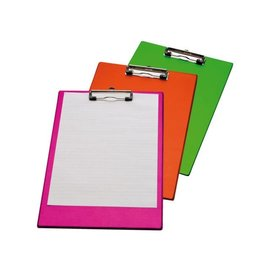 Papierklem Klembord A4/folio met 100mm klem neon roze Papierklem 60227