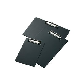 Papierklem Klembord A4 dwars met kopklem zwart Papierklem 60103