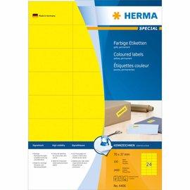 Herma Etiket Herma 4406 70x37mm geel 2400stuks