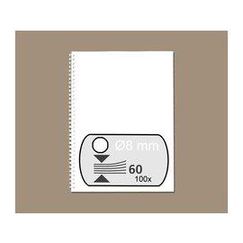 GBC Draadrug GBC 8mm 34-rings A4 wit 100stuks