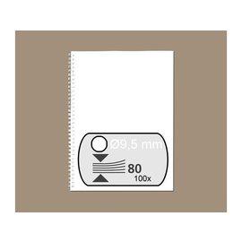GBC Draadrug GBC 9.5mm 34-rings A4 wit 100stuks