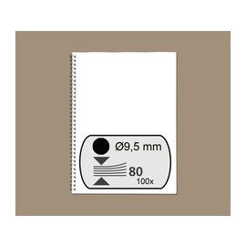 GBC Draadrug GBC 9.5mm 34-rings A4 zwart 100stuks