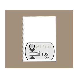 fellowes Draadrug Fellowes 12mm 34-rings A4 zilver 100stuks
