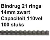 Bindruggen kunststof - 14 mm - 110 vel