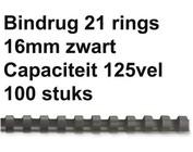 Bindruggen kunststof - 16 mm - 125 vel