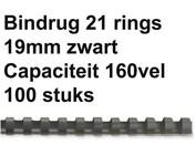 Bindruggen kunststof - 19 mm - 160 vel