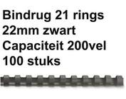 Bindruggen kunststof - 22, 25 & 38 mm - 200 & 225 vel