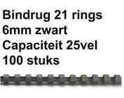 Bindruggen kunststof - 6 mm - 25 vel