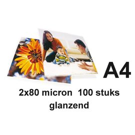 GBC Lamineerhoes GBC A4 2x80micron 100stuks