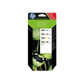 HP Inkcartridge HP c2n93ae 940xl zwart + 3 kleuren hc