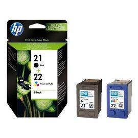 HP Inkcartridge HP sd367ae 21 + 22 zwart + kleur
