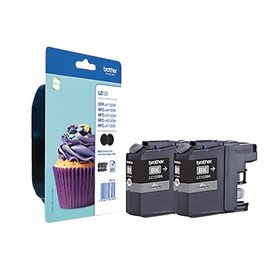 Brother Inkcartridge Brother lc-123bkbp2 zwart 2x