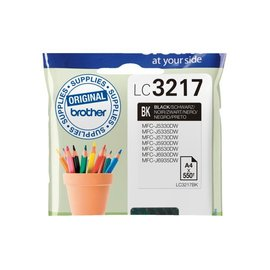 Brother Inkcartridge Brother lc-3217bk zwart