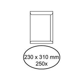 Office Envelop akte 230x310mm zelfklevend 100gr wit 250stuks