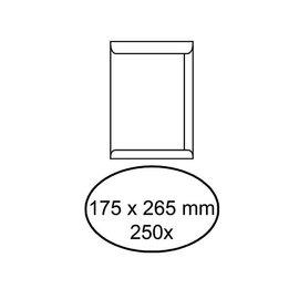 Office Envelop akte 175x265mm zelfklevend 100gr wit 250stuks