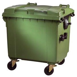 Vepa Bins Container 1100 ltr vlak deksel VB 719068 groen