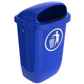 Vepa Bins Afvalbak din pk 50 ltr vb049806 blauw