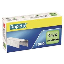 Rapid Nieten Rapid 24/6 gegalvaniseerd standaard 1000 stuks