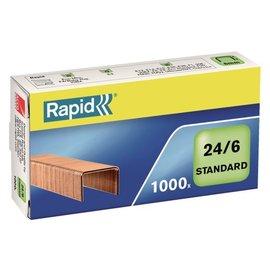 Rapid Nieten Rapid 24/6 kopercoating standaard 1000 stuks