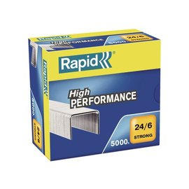 Rapid Nieten Rapid 24/6 gegalvaniseerd strong 5000 stuks