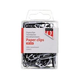 Quantore 10 x Paperclip quantore blister 28mm assorti