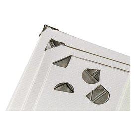 Papierklem LPC Hoekclip lpc zilverkleurig 100stuks