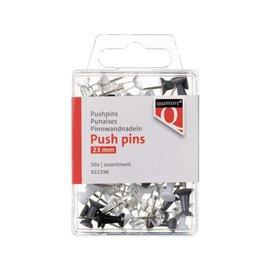 Quantore 10 x Push pins Quantore blister assorti