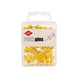 Papierklem LPC Push pins lpc 40stuks geel
