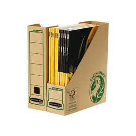 Bankers Box 20 x Tijdschriftcassette Bankers Box Earth A4 80mm bruin